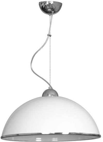 Luminex Lampa wisząca kuchenna 1 x 60 W E27 biała 04869.