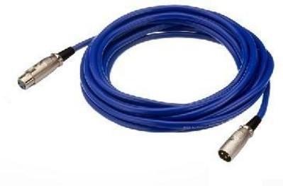 IMG Stage Line 190/BL przewód mikrofonowy (wtyczka XLR/XLR złącze MEC) 2m Niebieski O62520