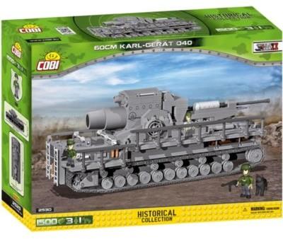 Cobi 2530 Historical Collection WWII Karl-Gerät 040 60cm ciężki moździerz samobieżny 1500 klocków