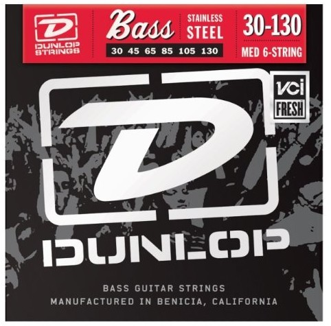 Dunlop DL STR DBS 030/130 Stainless Steel 6-String Medium 38440303001