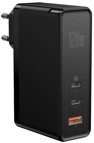 Baseus GaN2 Pro   Ładowarka sieciowa 2x Type-C 1x USB-A 120W Power Delivery 3.0 Quick Charge 4.0 Huawei SCP Samsung Fast Charge 2.0 + kabel 100W CCGAN-J02