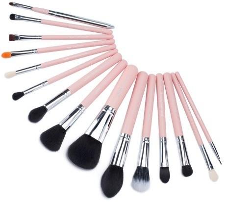 Jessup Jessup T094 Pink/Silver Zestaw 15 pędzli do makijażu 39991-uniw