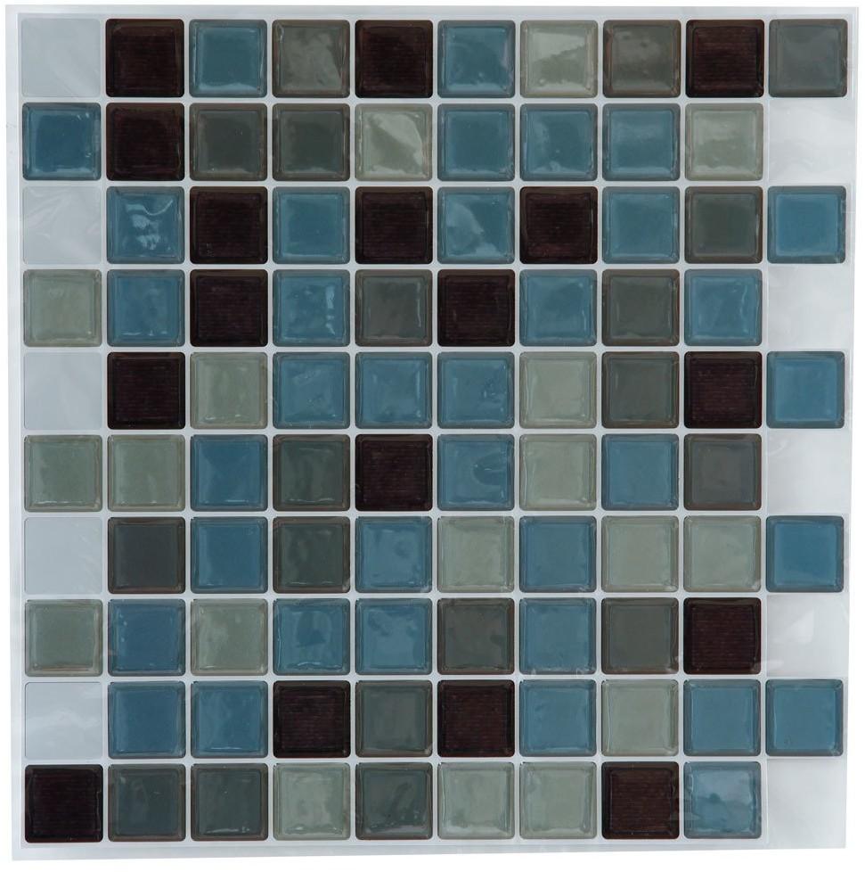 Atmosphera Naklejki na płaskie powierzchnie dekoracyjna mozaika z kwadratowych kafelków zaskakująco ożywi wnętrze