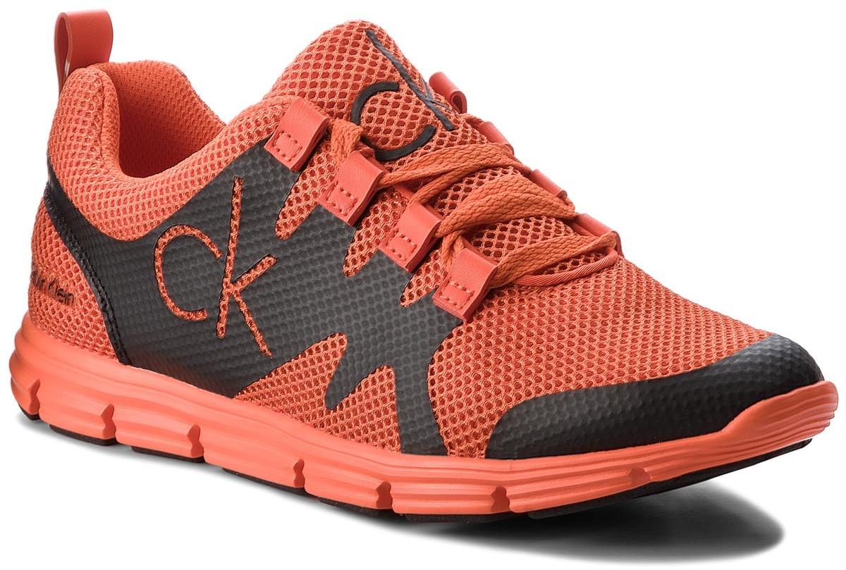 6c6f8a34b Calvin Klein Jeans Sneakersy JEANS - Murphy SE8525 Orange/Black - Ceny i  opinie na Skapiec.pl