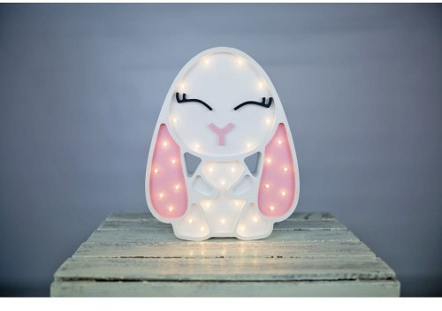 Lights my love lampka dekoracja do pokoju Lights My Love KRÓLICZEK LED biało-różowy dla dziewczynki królik