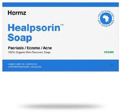 Hermz Laboratories Healpsorin Soap czarne mydło afrykańskie na łuszczycę i trądzik 100 g 1139533