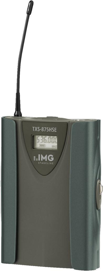 IMG IMG STAGELINE TXS-875HSE Wieloczęstotliwościowy nadajnik kieszonkowy 37667