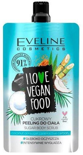 Eveline Cosmetics I Love Vegan Food cukrowy peeling do ciała Coconut Detox 75ml 92866-uniw