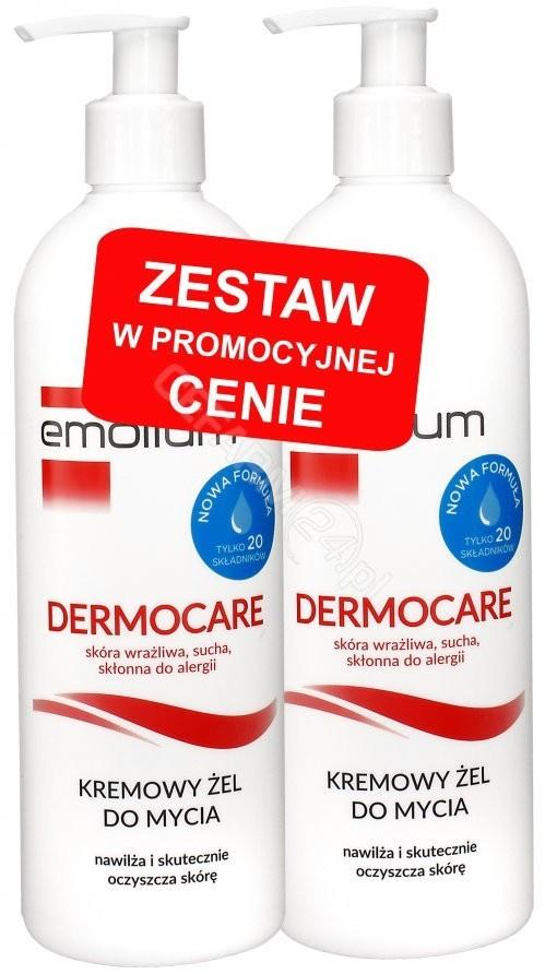 Emolium PERRIGO POLAND SP. Z O.O. Dermocare kremowy żel do mycia od 1 miesiąca 2x 400 ml [DWUPAK] 7084528