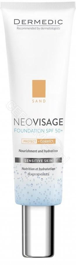 Dermedic BIOGENED Neovisage pielęgnacyjny fluid krem nawilżający spf50 SAND 30 ml