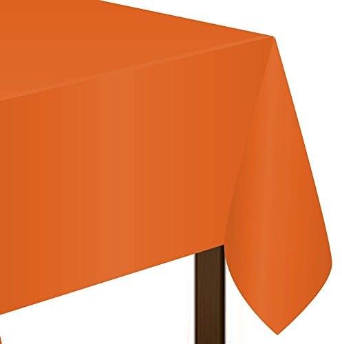 Amscan Jednokolorowy obrus 137x 274cm Pomarańczowy 77015.05