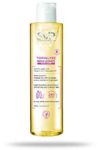 SVR Laboratorium Topialyse Huile Lavante Micellaire olejek do mycia i kąpieli dla skóry suchej, wrażliwej i atopowej 200 ml [KUP 2 produkty marki kosmetyczka GRATIS] 7073035