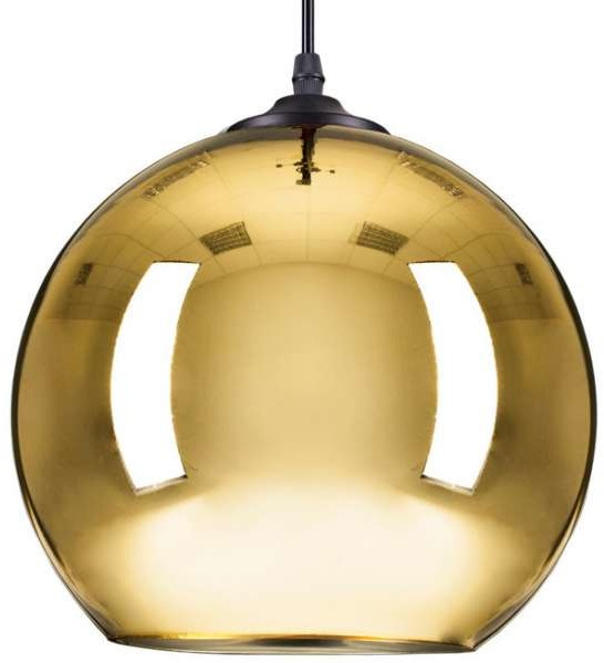 STEP LAMPA wisząca STEP ST-9021 GOLD szklana OPRAWA zwis kula ball złota STEP ST-9021 GOLD