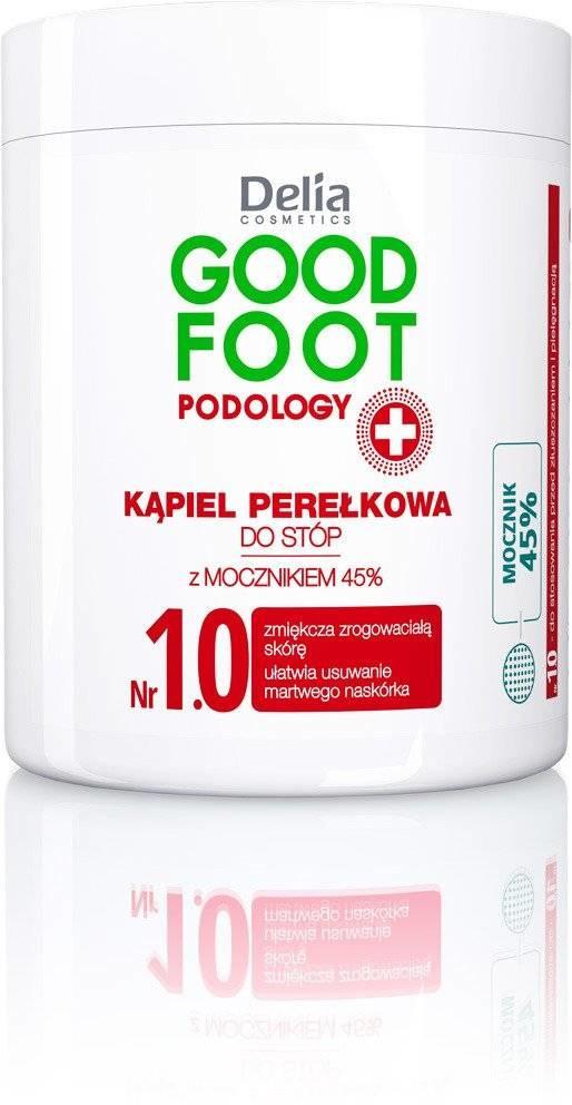 Delia Zestaw 3 szt - Cosmetics Good Foot Podology Nr 1.0 Kąpiel perełkowa do stóp 45% mocznika