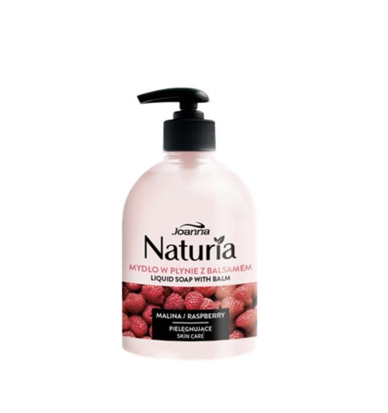 Joanna Naturia Liquid Soap With Balm mydło w płynie z balsamem Malina 500ml