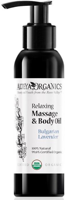 Ekologiczny lawendowy olejek bio do masażu 125 ml