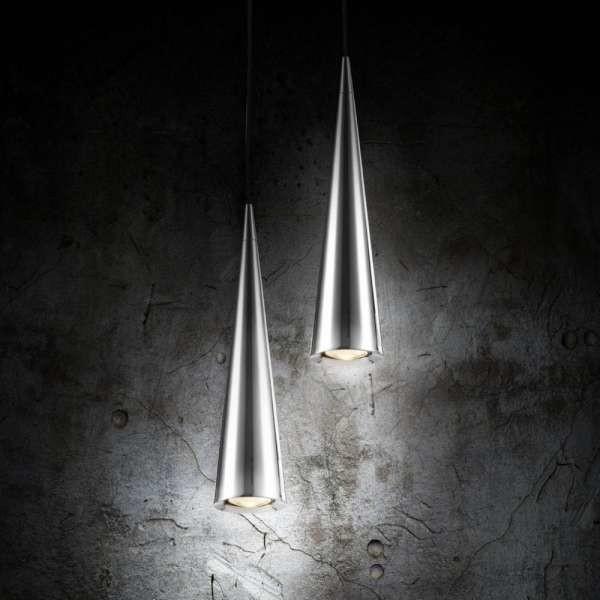 Maytoni LAMPA wisząca NEVILL P318-PL-01-N Maytoni minimalistyczna OPRAWA metalowy ZWIS stożek sopel nikiel P318-PL-01-N