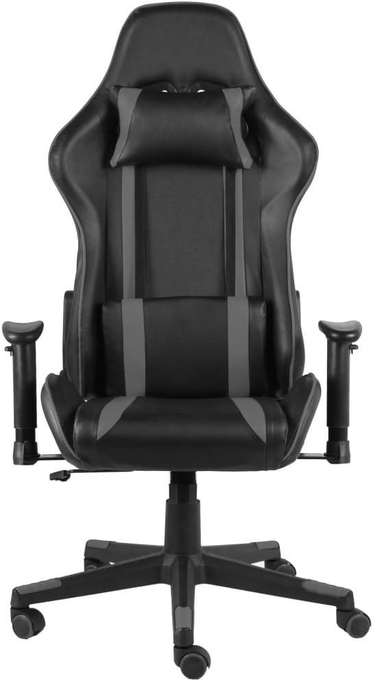vidaXL Lumarko Obrotowy fotel gamingowy, szary, PVC 20483
