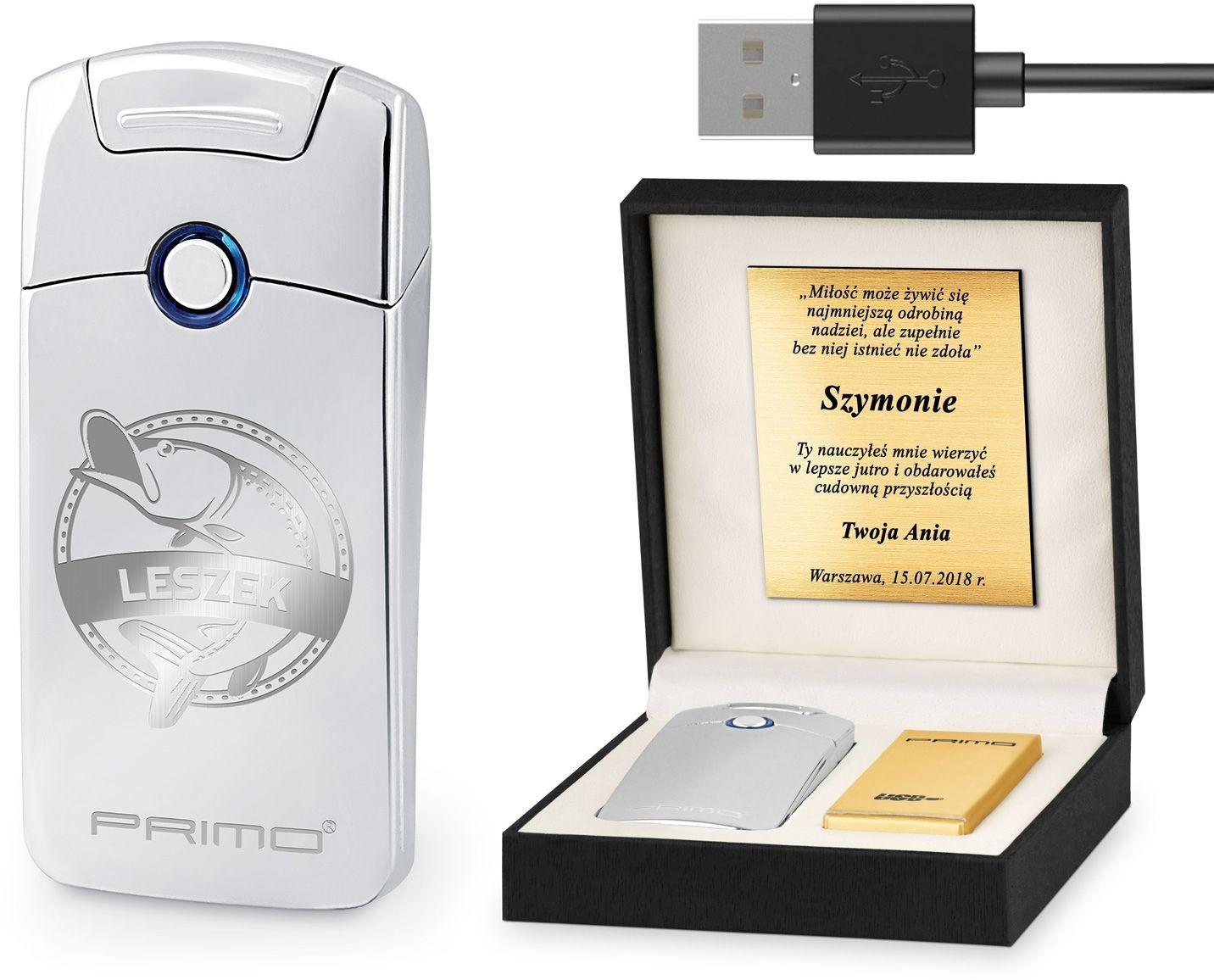 Murrano Zapalniczka Plazmowa USB z GRAWEREM RYBA ZP1-BB-015