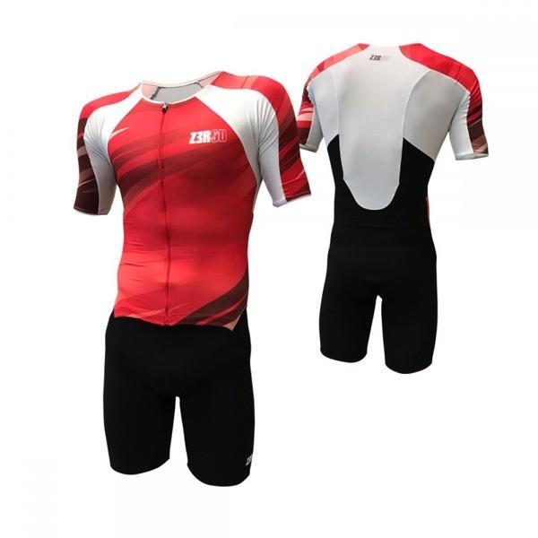 ZEROD strój triathlonowy TT SUIT czerwony