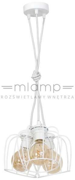 Mila Wisząca LAMPA vintage 119 druciana OPRAWA metalowa zwis drut biały 119