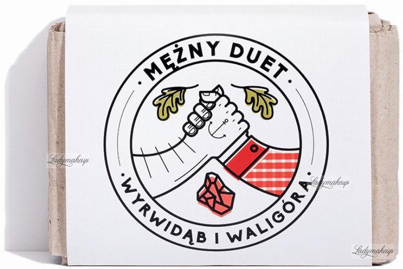 Mydlarnia cztery szpaki Cztery Szpaki - Mężny Duet - Męski zestaw mydeł do pielęgnacji ciała, włosów i brody - Wyrwidąb i Waligóra - 2 x 110 g