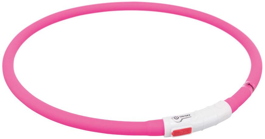 Trixie Opaska silikonowa LED dla psa kolor różowy rozm XS-XL nr kat 12647