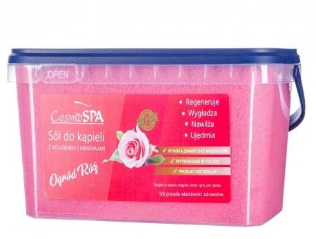 CosmoSPA uzdrowiskowa sól do kąpieli z kolagenem ogród róż 3 kg