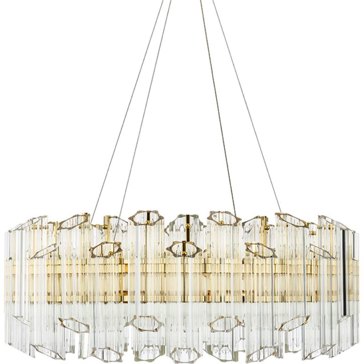 Casablanca Flat - Crystal Tubes - żyrandol kryształowy 60cm Flat 60 CH