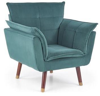 Halmar Fotel REZZO Zielony tapicerowany V-CH-REZZO-FOT-C.ZIELONY