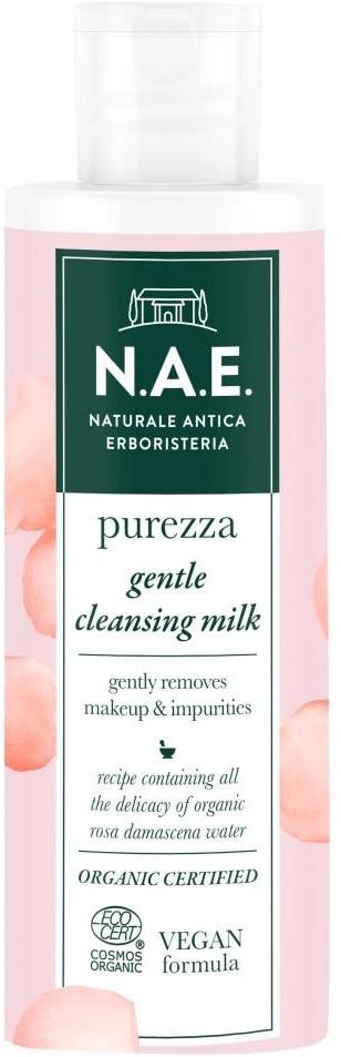 N.A.E. N.A.E N.A.E Pielęgnacja twarzy Purezza Delikatne Mleczko Oczyszczające do Twarzy z Organiczną Wodą z Róży Damasceńskiej 200 ml