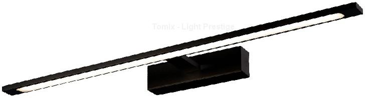 Light Prestige Isla kinkiet czarny duży z IP44 GS-LWB-20W BK)