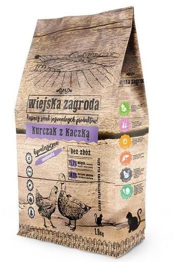 WIEJSKA ZAGRODA Cat Kurczak z Kaczką 1,6 kg