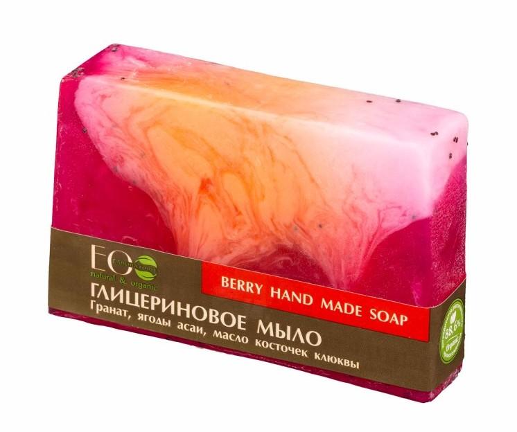 Eco LABORATORIE Laboratorie Mydło w kostce glicerynowe jagodowe 130 g () 127837