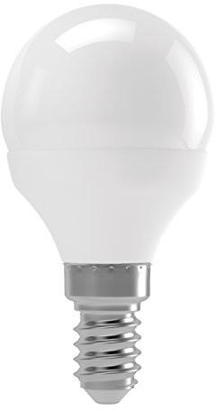 EMOS zl3910 A +, żarówka LED Mini Globe, ciepła biel, szkło, 8 W, E14, przezroczysty, 4,7 x 9 cm ZL3910