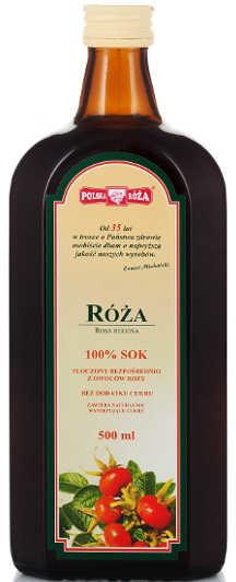 Polska Róża Sok z owoców Róży 100% 500 ml POLROZA5