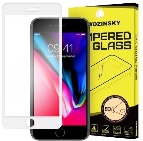 Wozinsky PRO+ super wytrzymałe szkło hartowane 5D Full Glue Case Friendly na cały ekran z ramką iPhone 8 Plus biały 7426825338464