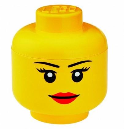 Lego Pojemnik Głowa Dziewczynki duża KURIER od 11.90! DOSTĘPNE OD RĘKI 40321725