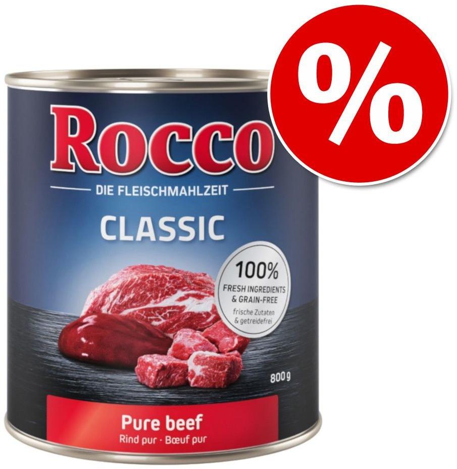Rocco 19 + 5 gratis! Classic 24 x 800 g Wołowina z zielonymi żwaczami