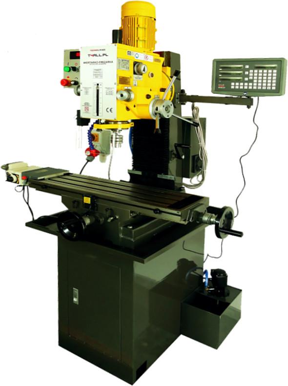 TECHNOLOGIES 4ALL FREZARKO WIERTARKA WIERTARKO FREZARKA GWINCIARKA Z AUTOPOSUWEM STOŁOWA SŁUPOWA MK4 DRO+LCD LINIAŁY) FALOWNIK fi 40/80 mm 624132