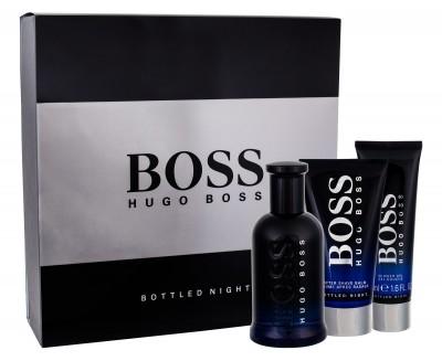 Hugo Boss Boss Bottled Night zestaw Edt 100ml + 75ml Balsam po goleniu + 50ml Żel pod prysznic dla mężczyzn