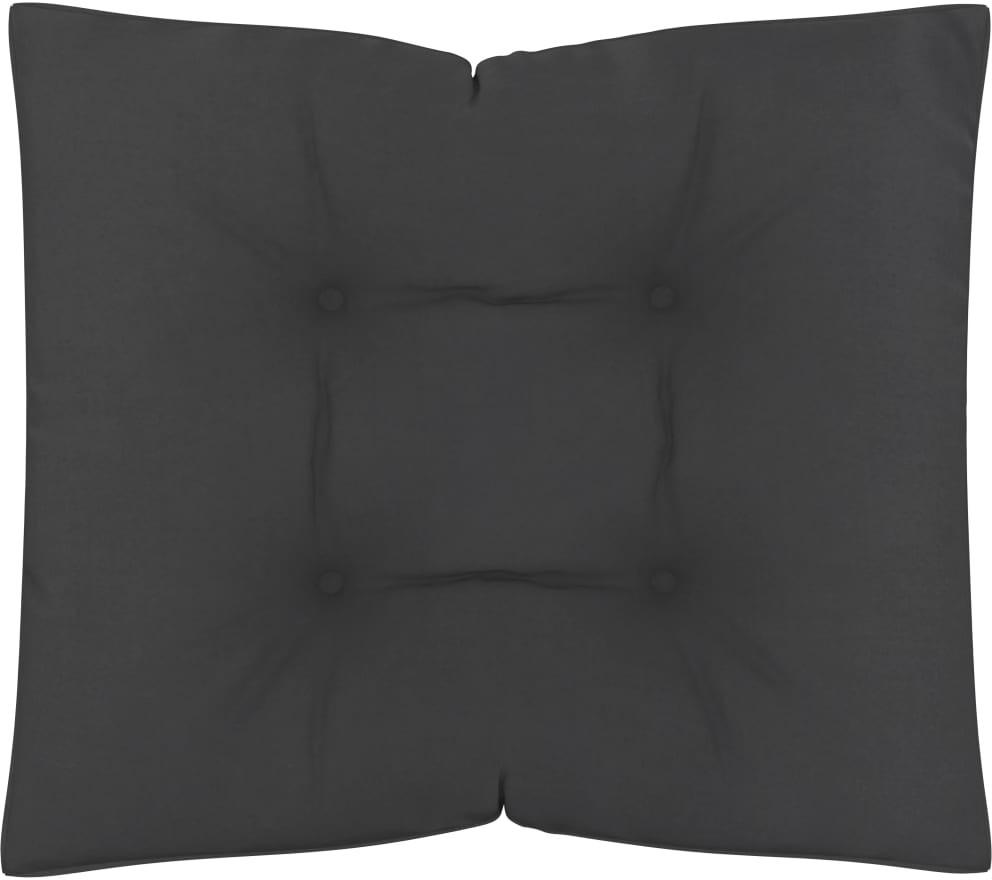 vidaXL Poduszki na sofę z palet, 2 szt., czarne, tkanina vidaXL