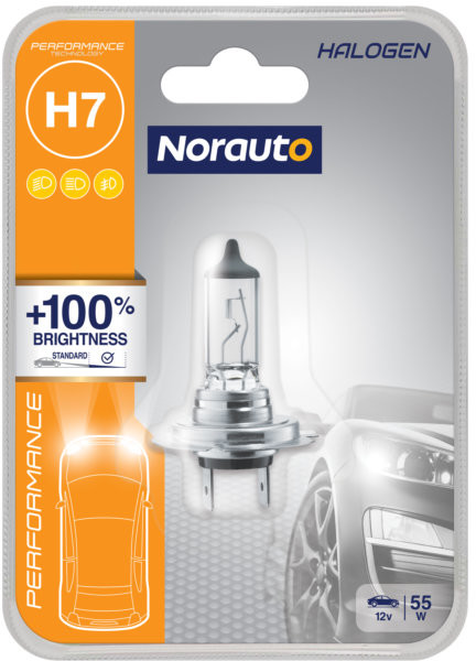 Norauto Żarówka H7 55W 12V Norauto Performance +100% 1szt
