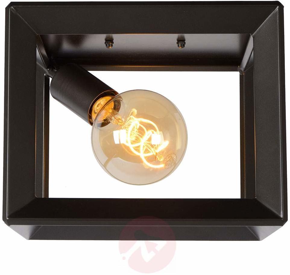 Lucide Plafon LAMPA sufitowa THOR 73102/01/15 metalowa OPRAWA klatka vintage szare żelazo 73102/01/15
