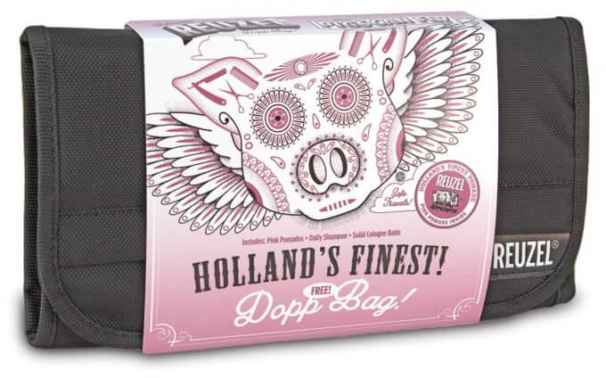 REUZEL REUZEL Pigs Can Fly Dopp Bag Pink Zestaw do brody i włosów szampon + Balsam + Pomady + Kosmetyczka