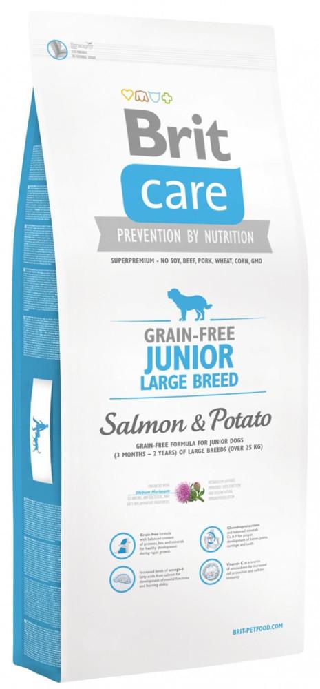 Brit Care Grain-Free Junior Large Breed Salmon&Potato 12 kg