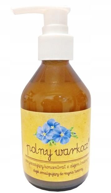 Polny Warkocz oczyszczający koncentrat olej lniany