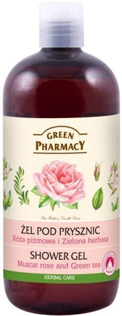 Green Pharmacy Żel pod prysznic Róża piżmowa i Zielona herbata 500 ml 500 ml   SZYBKA WYSYŁKA!