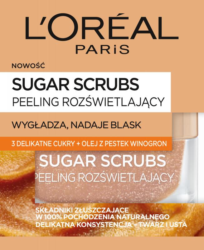 L'OREAL L'Oréal - SUGAR SCRUBS - GLOW PEELING - Rozświetlający peeling do twarzy L'ORDTW