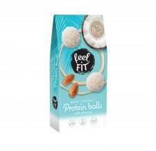 Feel Fit | Newtrition Sp. z o.o. sp. k., Płocka 5A Feel Fit | Newtrition Sp z o.o sp k. Płocka 5A Kulki kokosowe bez cukru z nadzieniem i migdałem 63 g Feel Fit M00-31B5-80126